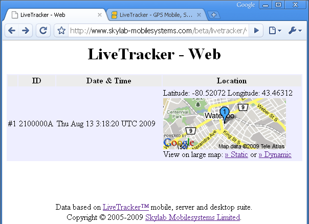 LiveTracker Web