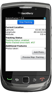 MobileTracker for BlackBerry